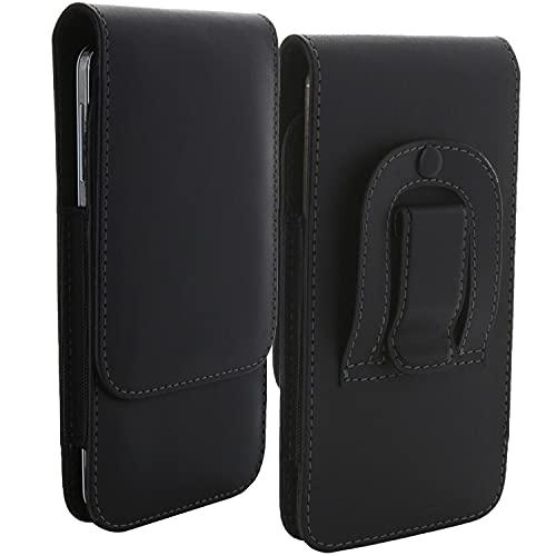 Handy Gürteltasche mit Gürtelclip 5XL 3.2 / Smartphone Tasche kompatibel mit Huawei Honor 9X / Samsung Galaxy A21s A42 A71 A72 M11 M51 / Xiaomi Redmi Note 9t 9s / 9 Pro - Handytasche schwarz