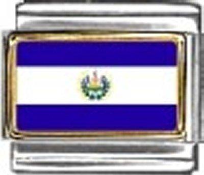 El Salvador Photo Flag Italian Charm Bracelet Jewelry Link
