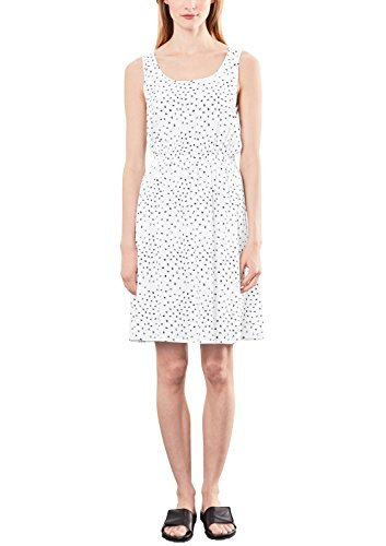 Q/S designed by - s.Oliver Damen Kleid 46706822331, Schwarz (White Aop 01A0), 38