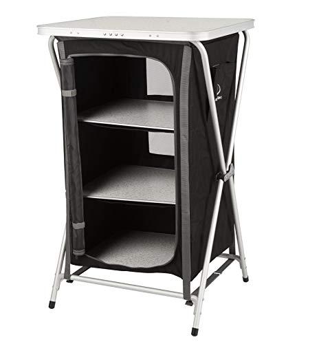 KitGarden - Armario Camping Plegable, 60x52x88 cm, Negro, Cabinet Camping