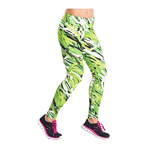 Nessi Collant de Course Longue Leggings oslk Fitness Pantalon Respirant Vert XS/S 26 Grün