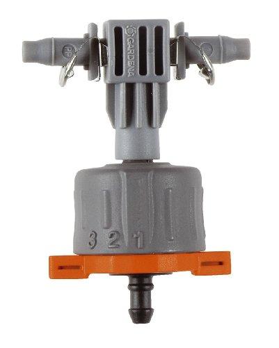 Gardena Micro-Drip-System Regulierbarer Reihentropfer: Druckausgleichender Tropfer für Pflanztröge mit unterschiedlichem Wasserbedarf (8317-20)