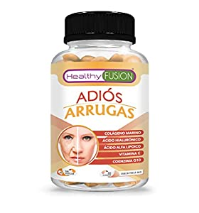 ADIÓS ARRUGAS | Previene y elimina las Arrugas | Piel más Hidratada, Firme y Rejuvenecida | Colágeno Hidrolizado + Ácido Hialurónico + Coenzima Q10 + Ácido Alfa Lipoico + Vitamina C | 50U.