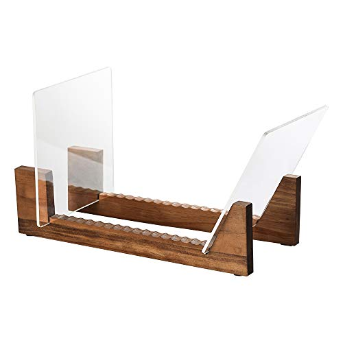 simesove Vinyl Record Holder,Storage Over 70 Albums with Non-Slip Deep Groove Design,Now Playing Record Stand,Minimalist Desktop Record Display, Retro Record Stand…