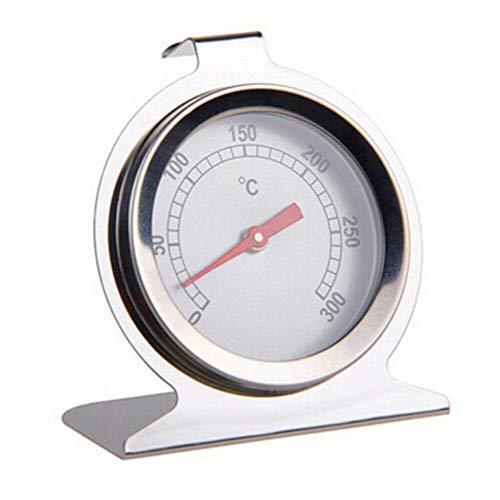 Thermometer, Garen, Ofen, Analog-Thermometer, Bi-Metall, Backofen, Pizzaöfen, Holzofen, Thermometer zur Messung der Temperatur des Ofen-Thermometers aus Edelstahl