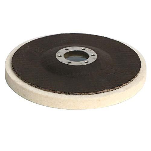 Rueda de Pulido de Lana de 5 Pulgadas de 125 mm Almohadillas de Pulido Ángulo Rueda de Molinillo de Rollo de diseje para mármol de Metal Cerámica de Vidrio (Color : Gold, Size : 10pc)