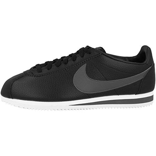 Nike Classic Cortez Leather, Chaussures de running Homme,Noir (Black / Dark Grey-white) , 49.5 EU
