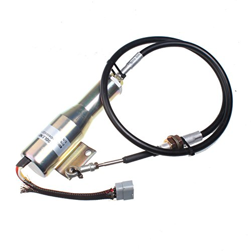 Holdwell Stop Solenoid VOE 11110030 compatible with Volvo Wheel Loaders L120C L90C L70C L220D L70D L90D L120D L150D L180D L180DHL L330D L150C L180C L330C 24V