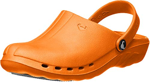 Suecos@ Oden Blau, Grün, Orange – Medizinische Clogs (45, Orange)