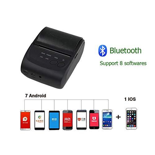Review Smart APP Printer Wireless Bluetooth 4.0 58mm Thermal Printer, Portable Personal Bill POS Rec...