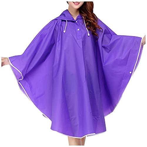 SASAU Capa de Lluvia Motocicleta Impermeable Transparente Mujeres Hombres Lluvias de Lluvia Masculina Cubierta de Lluvia Impermeable Cubierta Impermeable Impermeable 1 Piezas (Color : Purple)