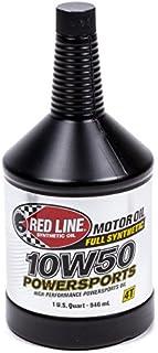 Red Line Oil RED42604 Power sports Motor Oil (10w50), 1 quart, 1 Pack