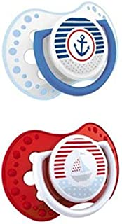 Lovi 022819 2 Piece Dynamic Marine Soother - Red and Blue 0 to 3 Months , 2724313937133