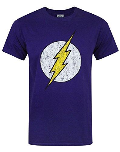 Official Flash Distressed Logo púrpura...