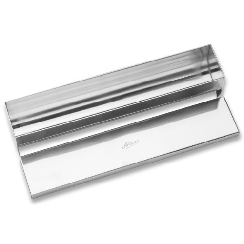 Ateco Stainless Steel Terrine Mold with Cover, Round Bottom, 11.75 by 2.25-Inches