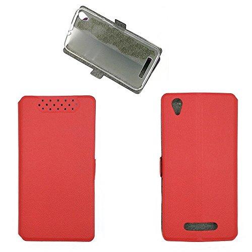 QiongniAN Hülle für Acer Liquid Z630S T04 Hülle Schutzhülle Hülle Cover Red