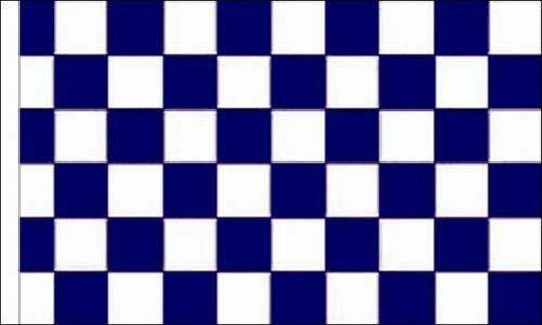 FlagSuperstore© Bootsflagge, marineblau & weiß, kariert, 45,7 x 30,5 cm, Baumhäuser, Wohnwagen, Ärmel 45 x 30 cm, kariert
