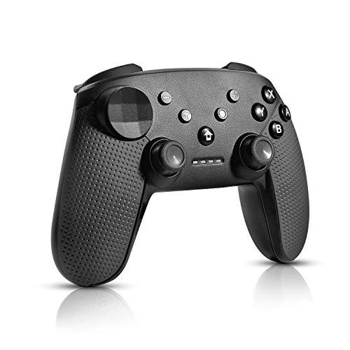 Raniaco Mando para Nintendo Switch, Mando Pro Switch Inalámbrico, Bluetooth Wireless y Recargable Pro Controller, Dual Vibration Switch Mando Con 6-Axis Motion Sensor y Turbo para Nintendo Switch