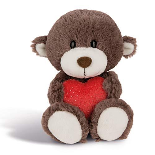 NICI Plüschtier Love Bär Junge mit Herz 20 cm – Kuscheltier Teddybär mit Herz für die Liebsten – Flauschiges Teddy-Stofftier zum Kuscheln, Spielen und Schlafen – Gemütliches Schmusetier I 44426