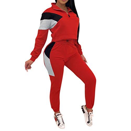 Ulanda-EU Bekleidungsset Damen Samt Sportanzüge Jogginganzug Kapuzenjacke Kapuzenpullover Sexy Reißverschluss Jacke Mantel Beiläufig Velours Hose 2 Stück