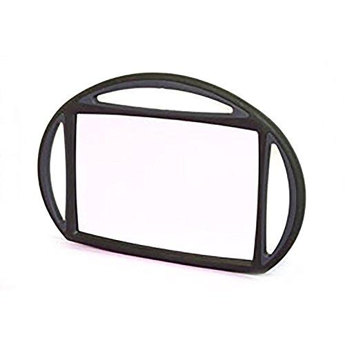 Miroir coiffure rectangulaire 3 poignées Noir Beautélive