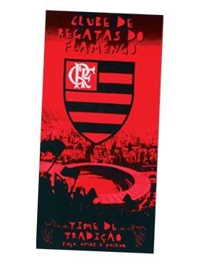Flamengo Toalla de playa de equipo de fútbol – Tipo I Toalha de Praia Oficial do Flamengo Modelo 01 31 x 51 pulgadas