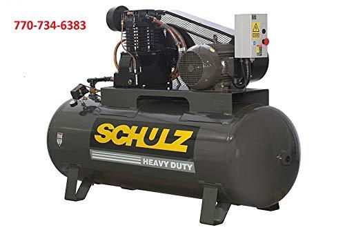 Schulz Air Compressor 10HP L-SERIES, 40 CFM 175 PSI 120 GALLON NEW 3PH