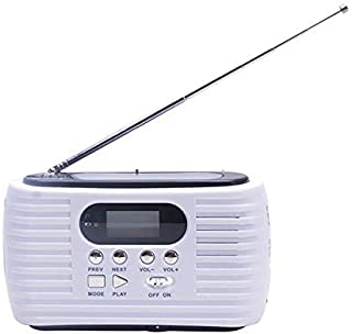 راديو - راديو للطوارئ آم أف ام راديو يدوي شمسي مع 3 مصابيح LED ساطعة وبطارية 2300 ملي أمبير للهواتف الذكية BPUP-4001207515...