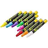 heacker 8pcs flüssige Kreide löschbare Fluoreszierende Marker Pen Weiße Tafel LED Tafel-Schul...