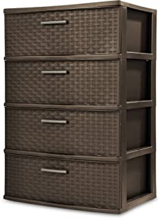 Sterilite 4 Drawer Wide Weave Tower, Espresso - 1 Pack