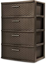 Sterilite 4 Drawer Wide Weave Tower, Espresso - 1 Pack