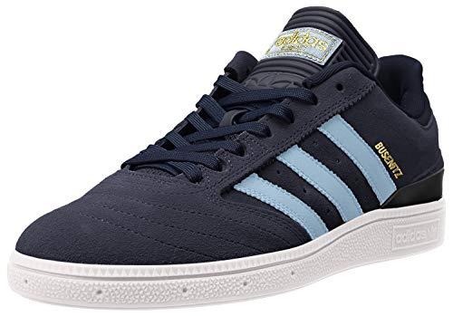 Adidas - Zapatillas de skateboarding para hombre Busenitz Pro Collegiate azul marino/dorado metálico de ante 5 D US