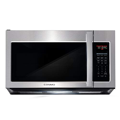 Cosmo COS-3019ORM2SS Over the Range Microwave Oven with Vent Fan, Smart Sensor, Touch Presets, 1000W & 1.9 cu. ft. Capacity, 30 inch, Stainless Steel