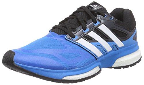 adidas response boost techfit m, Herren Laufschuhe, Mehrfarbig (SOLBLU/RUNWHT/BLACK), 40 2/3 EU