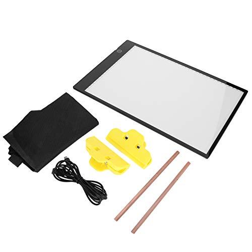 Tablero de luz LED A4 Rastreo de dibujo a mano Tablero de dibujo LED regulable Tablero de dibujo de alto brillo ajustable Kit de pintura de dibujo electrónico