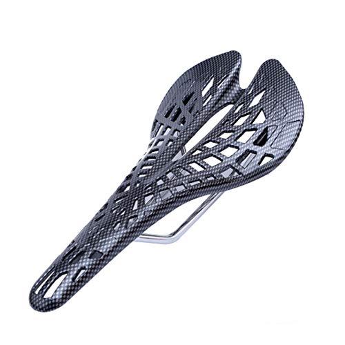 QXLG Durabilidad Sillín Incorporado Suspensión Asiento de Bicicleta Cojín cómodo Sillín Durable Ultra-Bajo Peso Suministros Bicicletas Spider Fibra Fácil de Instalar (Color : As Show)