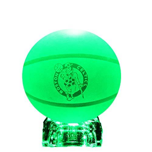 Character Design 3D LED Crystal Ball Premium Base Night Light Lamp (Celtics)