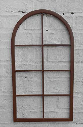 Deko-Impression Fenster Sprossenfenster Bilderrahmen Wanddekoration Eisen rostfarben