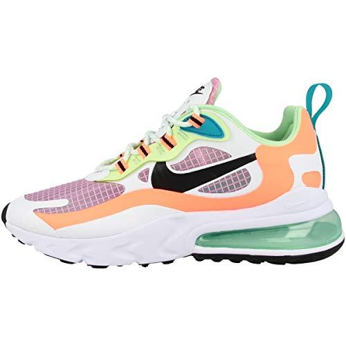 Nike W Air Max 270 React Se, Chaussure de Course Femme, lt Arctic Pink/Black-Orange Pulse-White, 38 EU