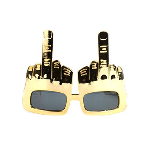 Fighting to Achieve Creative Middle Finger Flip Off Hand Shape Finger Silly Funny Party Novelty Sunglasses