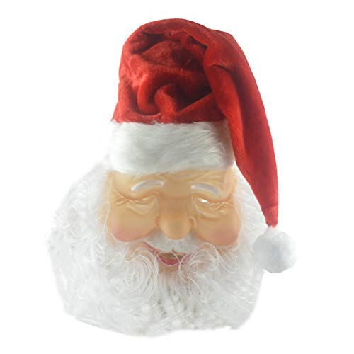 Christmas Decoration Christmas Ornaments Christmas Gift DIY Decoration Santa Claus Hat Mask Creative Christmas Decoration Christmas Ornaments Christmas Gift DIY Gifts Unisex Xmas Decoration Dress Up Supplies