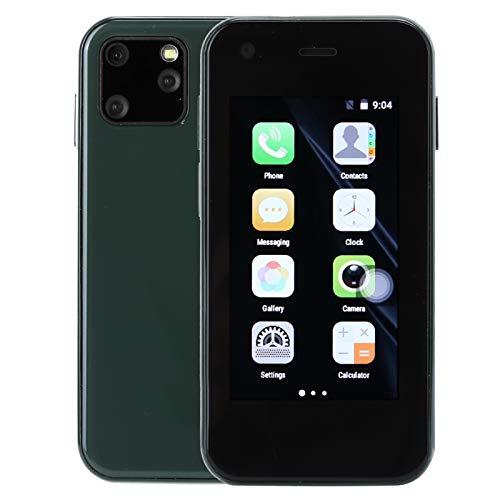 ciciglow Teléfono móvil 3G sin Cerrojo, Mini teléfono móvil de 2,5 Pulgadas, 1 + 8G, Doble Tarjeta de Doble Modo de Espera, Doble Cristal Lateral Curvo, Smartphone, para Android(Verde)