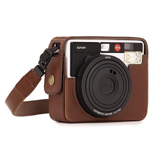 MegaGear Ever Ready Leder Kamera Schutzhülle für Leica Sofort Instant Dunkelbraun