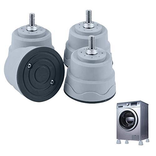 4 Pezzi Piedini in Gomma per Lavatrice Pad Rondella Smorzatore di Vibrazioni Mat Antivibrazione Accessori per Lavatrice