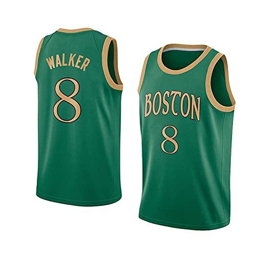 wsetrtg Camiseta de Baloncesto 2021 NBA para Hombre Camisetas de Baloncesto Celtic n # 8 Walker Manga Corta Informal de Verano al Aire Libre