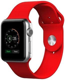 Pulseira Sport Tamanho Feminino Vermelha Compativel com apple watch de 38mm e 40mm
