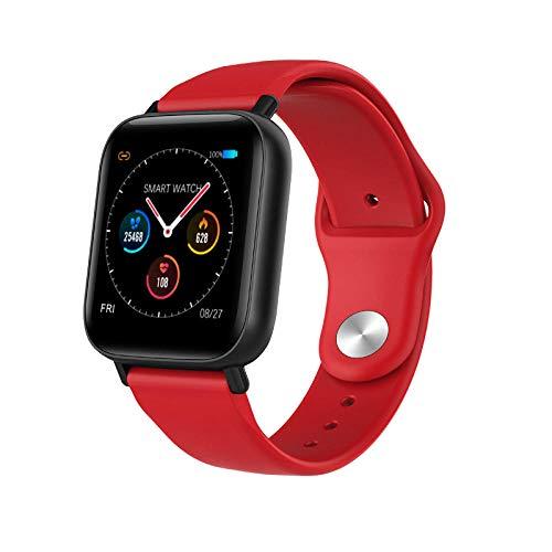 YCMTZ reloj inteligente impermeable pantalla táctil completa actividad Tracker reloj deportivo con frecuencia cardíaca y presión arterial podómetro sueño inteligente recordatorio