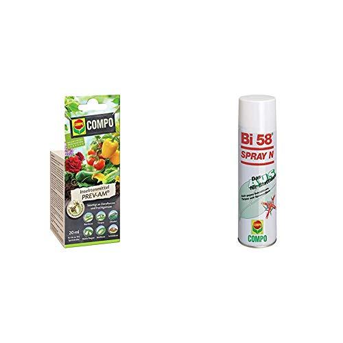 Compo Insektenmittel Prev-am, Bekämpfung von Schädlingen an Zierpflanzen und Fruchtgemüse, 20 ml + Bi 58 Spray, Bekämpfung von Schädlingen an Zierpflanzen, Anwendungsfertig, 400 ml