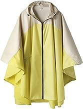 Stylish Unisex Hooded Waterproof Raincoat with Zipper Outdoor Windbreak Rain Jacket Bike Poncho Point Cloak (Yellow)