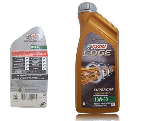 Castrol edge litres de 1 l titane fSTTM - 60–10W huile moteur-huile de castrol moteur inclus bidon pour huile pendentif-particularités : aCEA a3/b3/b4, aPI a3, sN cF, vW/501 01 505/00, non libération bMW m